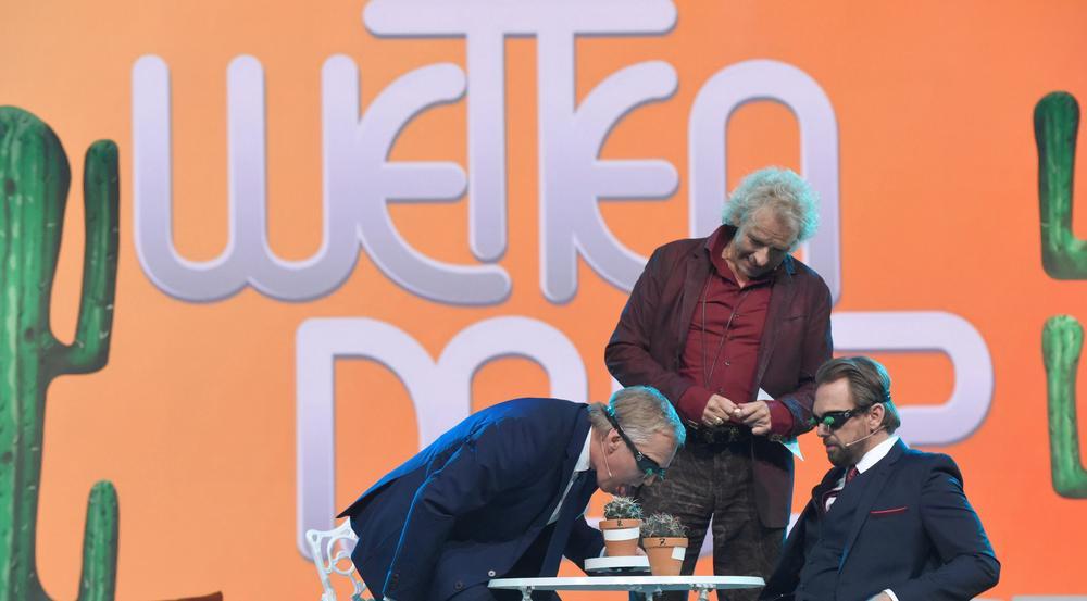 Johannes B. Kerner (v.l.), Thomas Gottschalk und Steven Gätjen in der ZDF-Reihe