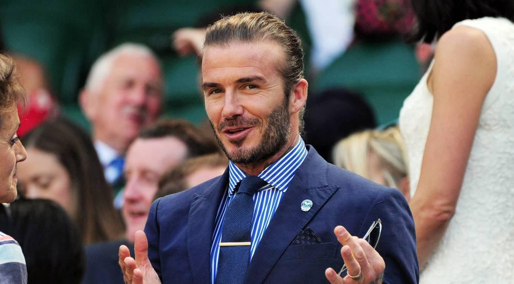 David Beckham in der Royal Box beim Tennis-Turnier in Wimbledon