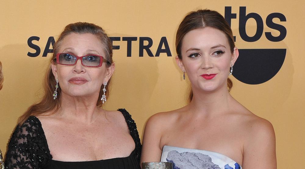 Carrie Fisher (l.) mit ihrer Tochter Billie Lourd im Jahr 2015