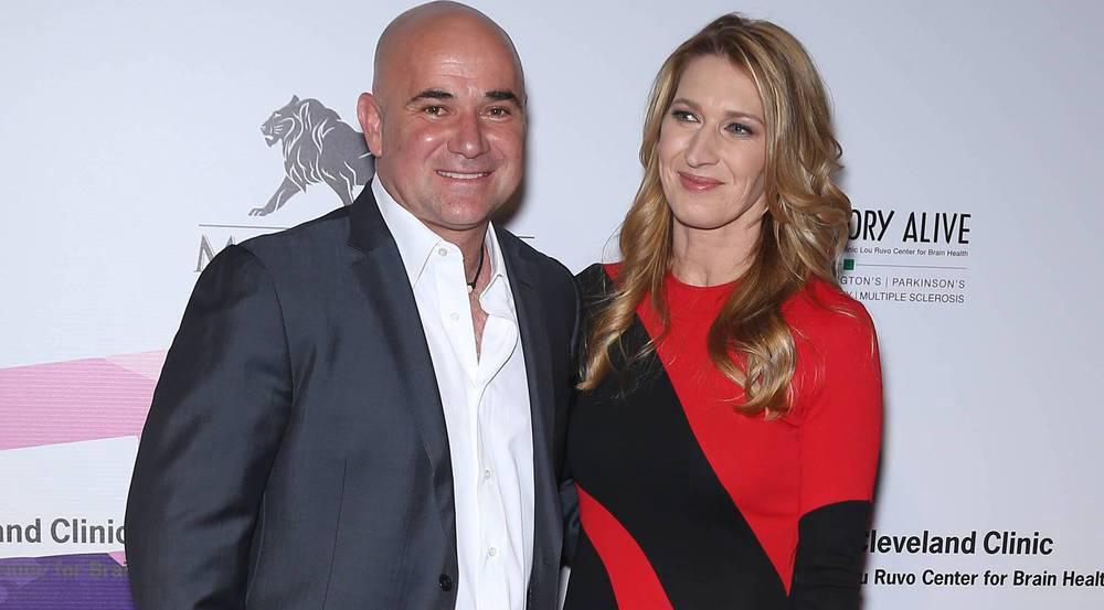 Steffi Graf und Andre Agassi bei der