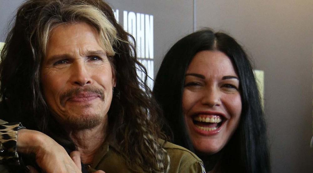 Steven Tyler mit seiner Tochter Mia Tyler bei einer Veranstaltung in New York