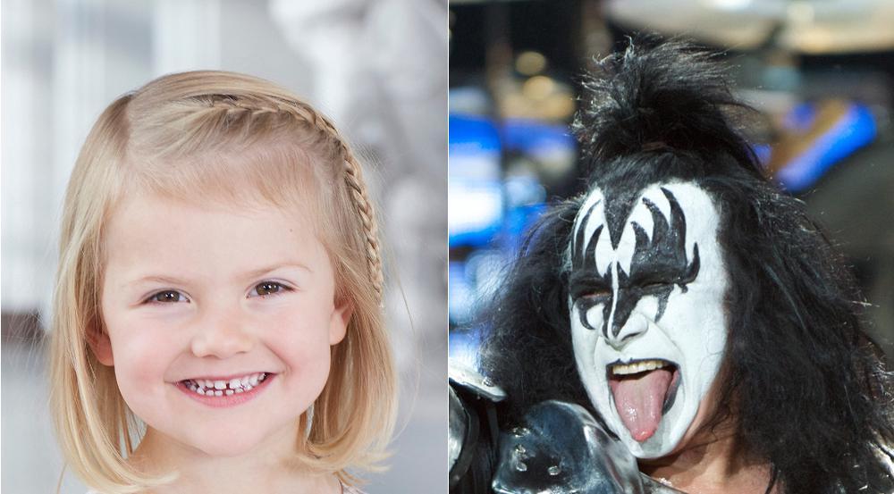 Prinzessin Estelle ist ein Fan von Kiss (hier im Foto Gene Simmons)
