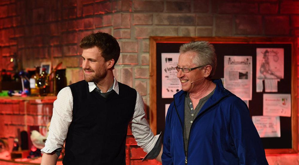 Luke Mockridge mit seinem ehemaligen Lehrer Alois Gmeiner