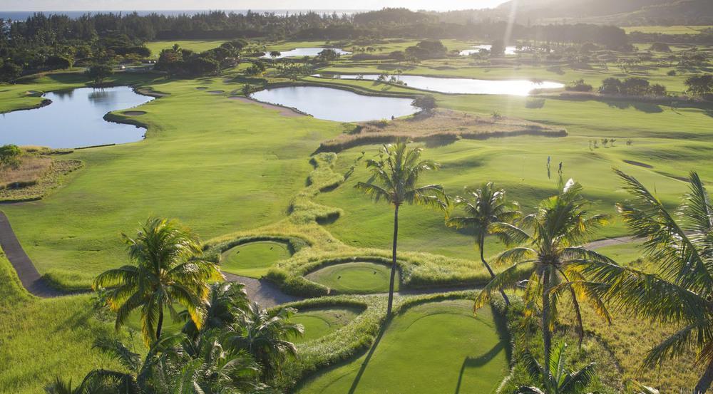 Der Golfplatz des Heritage Resorts gilt als Schönster auf Mauritius