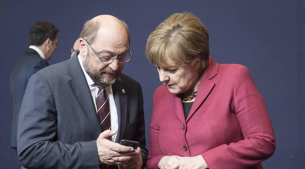 Martin Schulz und Angela Merkel kämpfen um die Kanzlerschaft