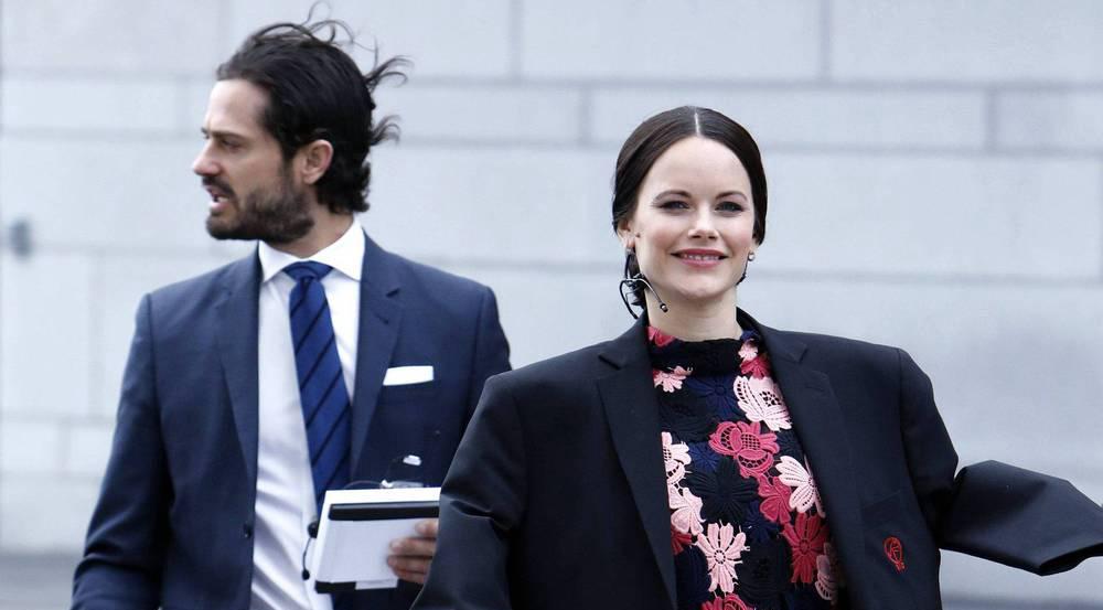 Windig und kalt in Stockholm - Prinzessin Sofia ist trotzdem bester Dinge