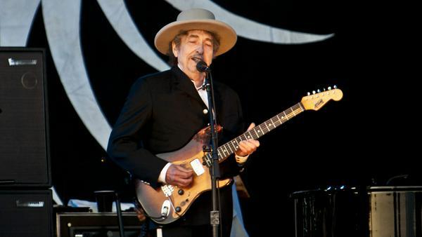 Bob Dylan bei einem Konzert