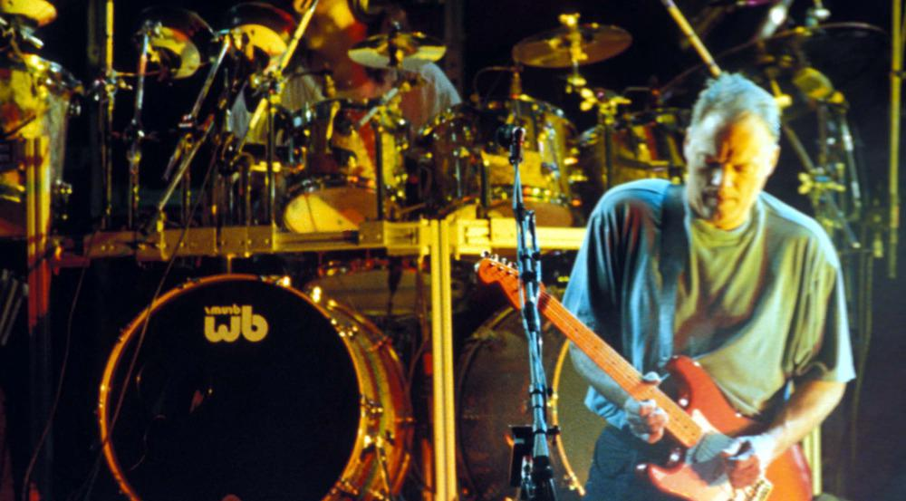 Pink Floyd bei einem Konzert 1994