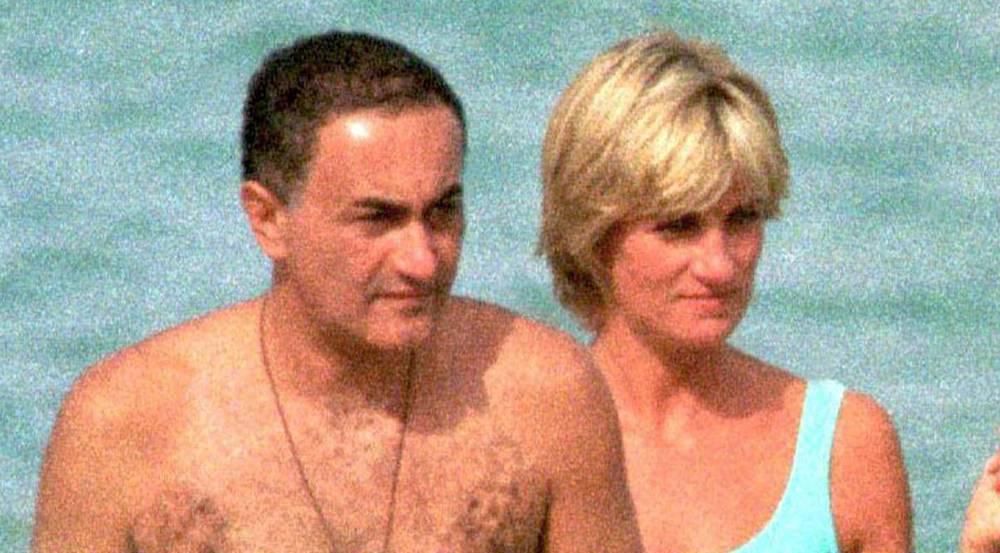 Prinzessin Diana und Dodi Al-Fayed wenige Tage vor ihrem Tod während eines Urlaubes in Italien