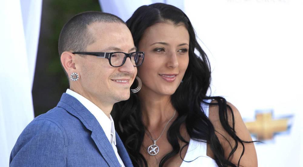 Chester Bennington und seine Frau Talinda im Jahr 2012