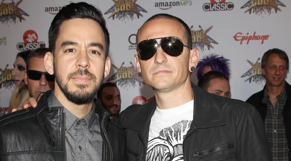 Mike Shinoda (l.) und Chester Bennington im Jahr 2014