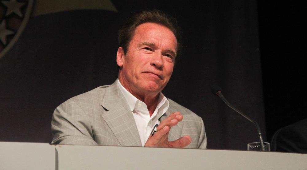 In seinem Leben stand Geburtstagskind Arnold Schwarzenegger schon an vielen Rednerpulten - ob als Schauspieler oder als Politiker