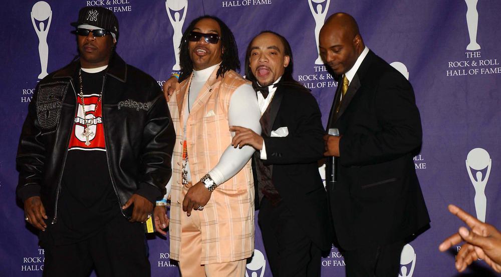Kidd Creole (2.v.r.) mit seinen Furious Five bei der Aufnahme in die Rock and Roll Hall of Fame im Jahr 2007