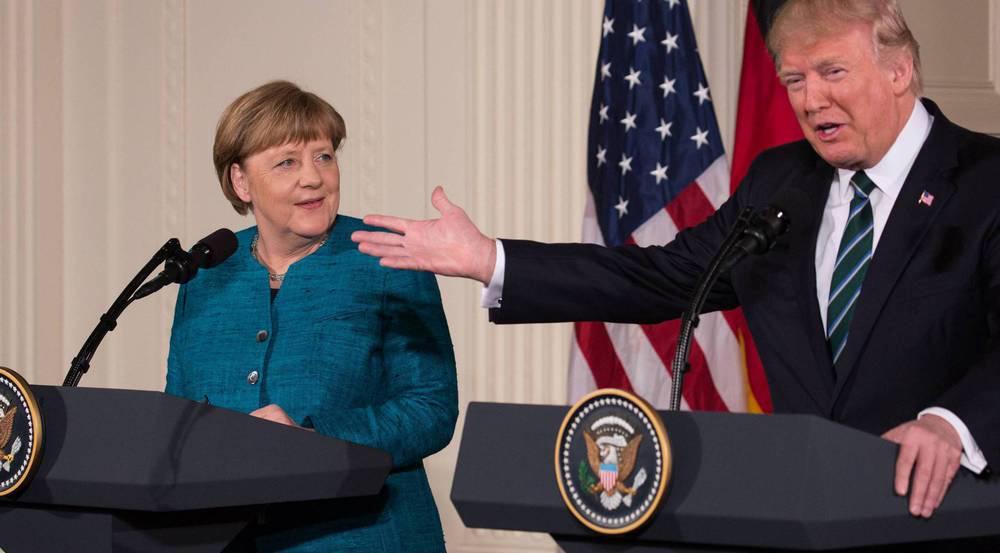 Hier treffen Gegensätze aufeinander: Angela Merkel und Donald Trump