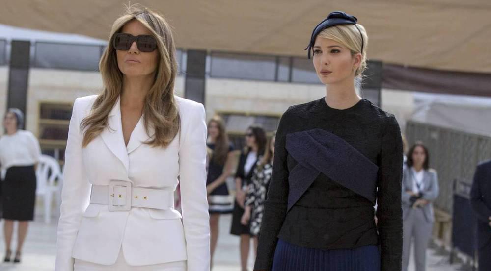 Auch Ivanka Trumps (r.) Stiefmutter Melania zeigte sich für den Auslandsbesuch in der Öffentlichkeit