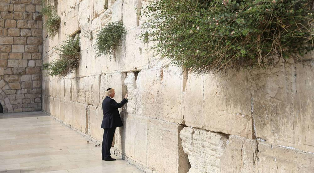 Donald Trump besuchte als erster US-Präsident die Klagemauer in Israel