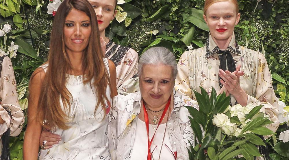 Laura Biagiotti auf der Milan Fashion Week