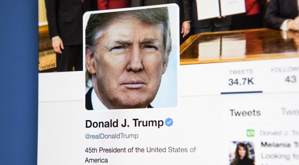 Sein wohl liebstes Steckenpferd: Donald Trumps Twitteraccount