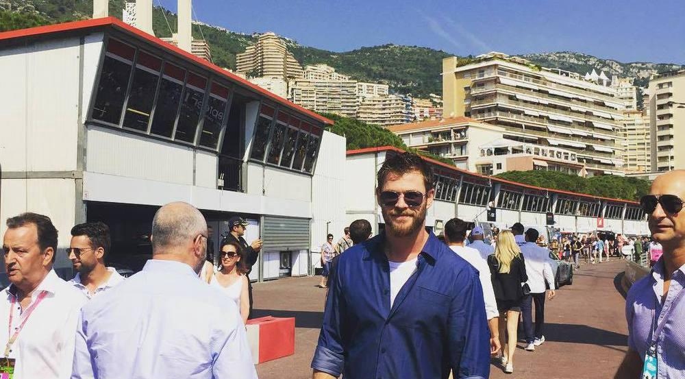 Chris Hemsworth ist mit TAG Heuer in Monaco