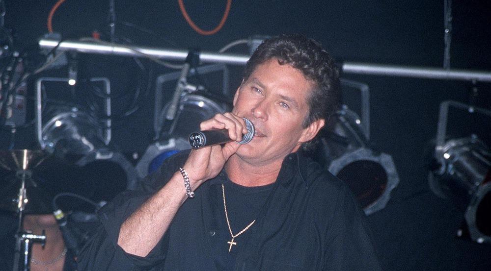 Der junge David Hasselhoff bei einem Auftritt in L.A.