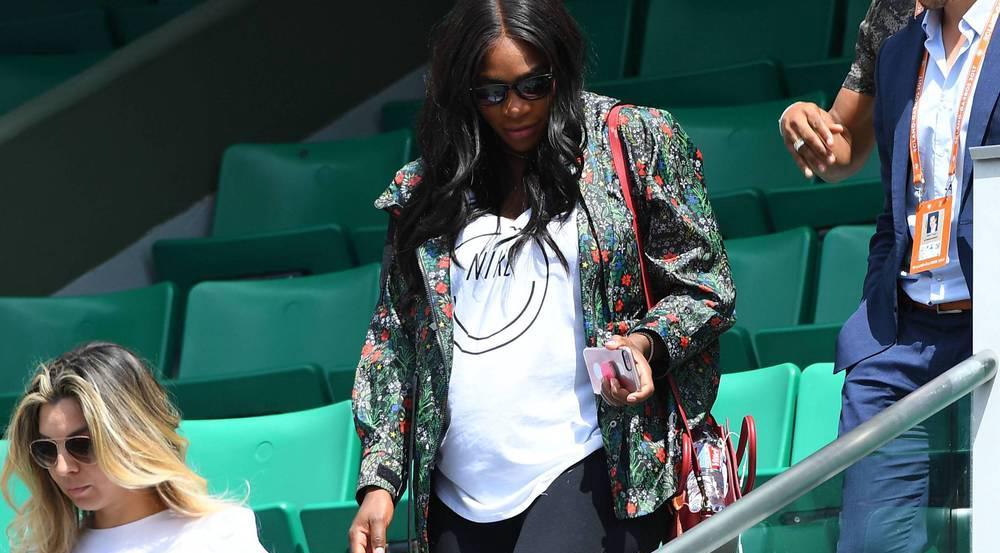 Ihr Babybauch ist nicht mehr zu übersehen: Serena Williams bei den French Open