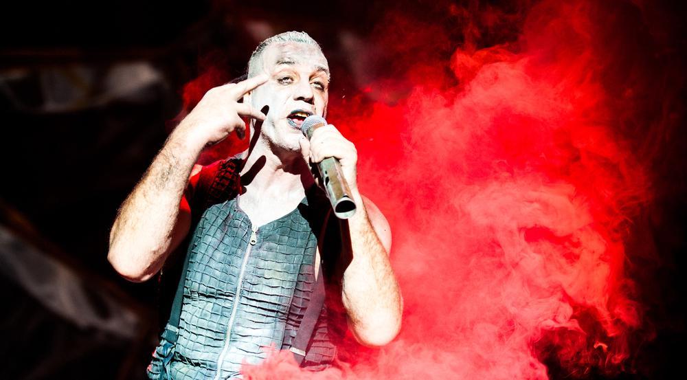 Rammstein-Frontmann Till Lindemann bei einem Auftritt im Jahr 2012