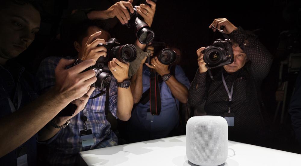 Fotografen haben das erste Mal Apples HomePod vor der Linse