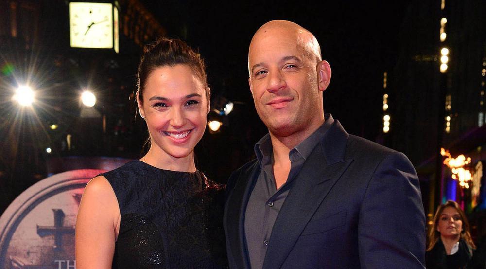 Vin Diesel und Gal Gadot im Jahr 2015 gemeinsam bei einer Filmpremiere