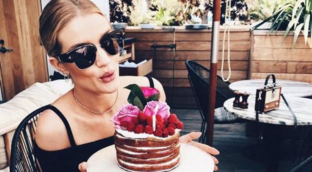 Ob Model Rosie Huntington-Whiteley dieser hübschen Torte widerstehen konnte?