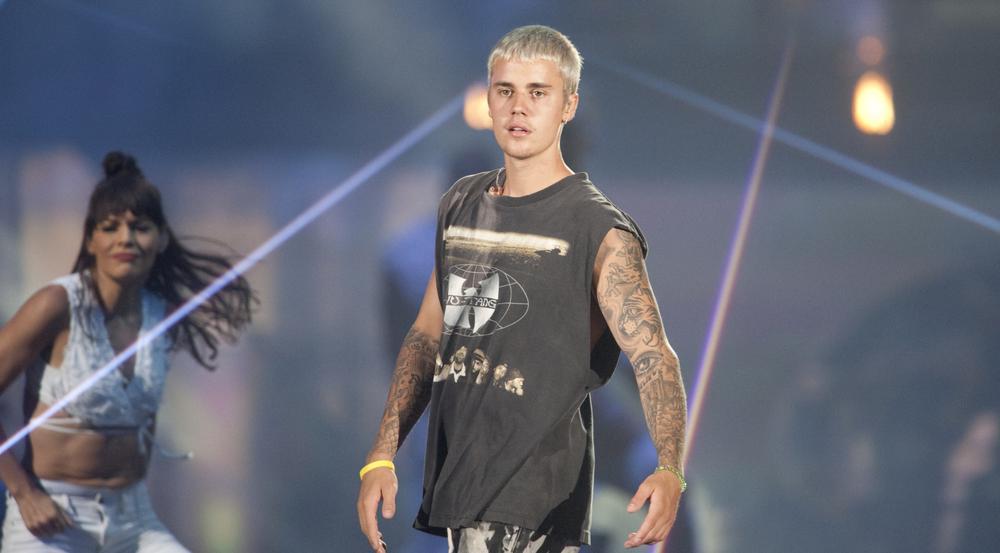 Justin Bieber bei einem Auftritt während seiner