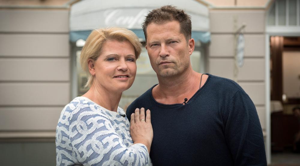 Til Schweiger (r.) und Andrea Spatzek in der WDR-Sendung