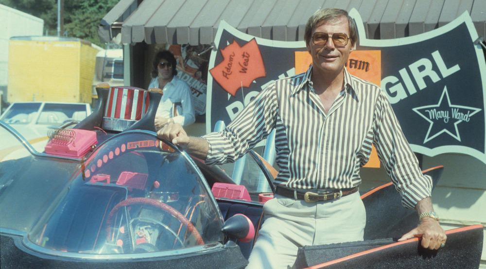 Adam West und sein Batmobile