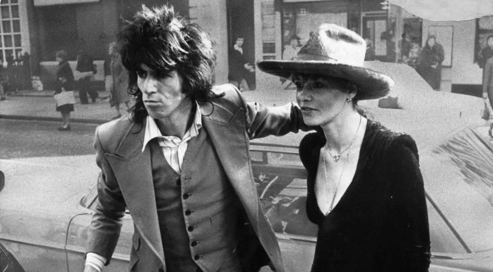 Anita Pallenberg und Keith Richards 1973 in London