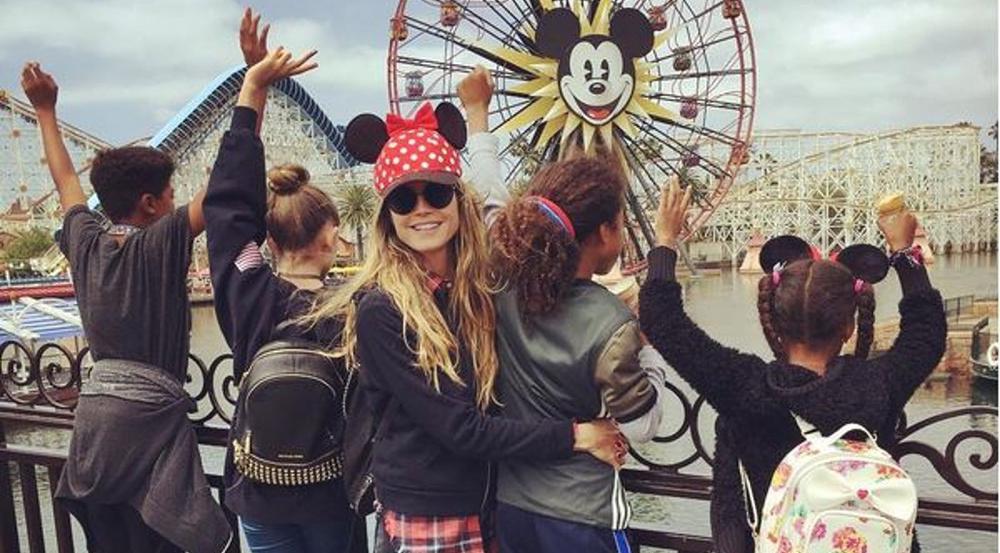 Heidi Klum genießt in Disneyland die Zeit mit ihren vier Kindern