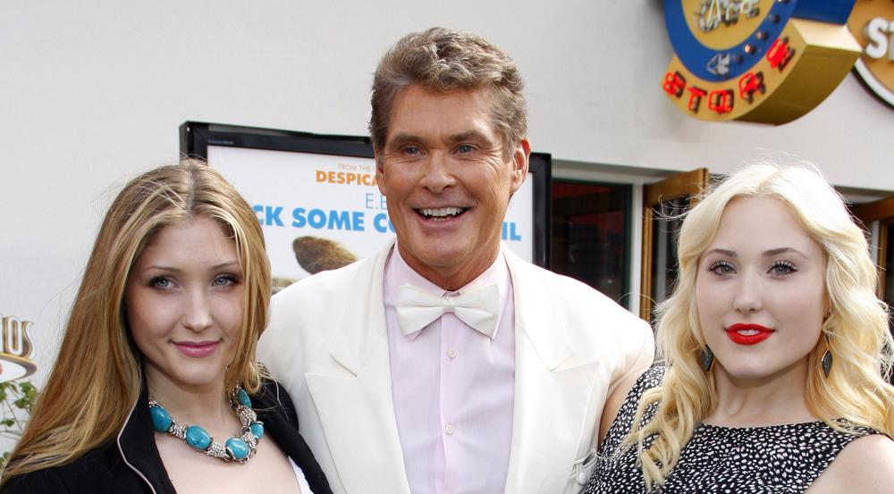 David Hasselhoff und seine beiden Töchter Taylor-Ann (l.) und Hayley