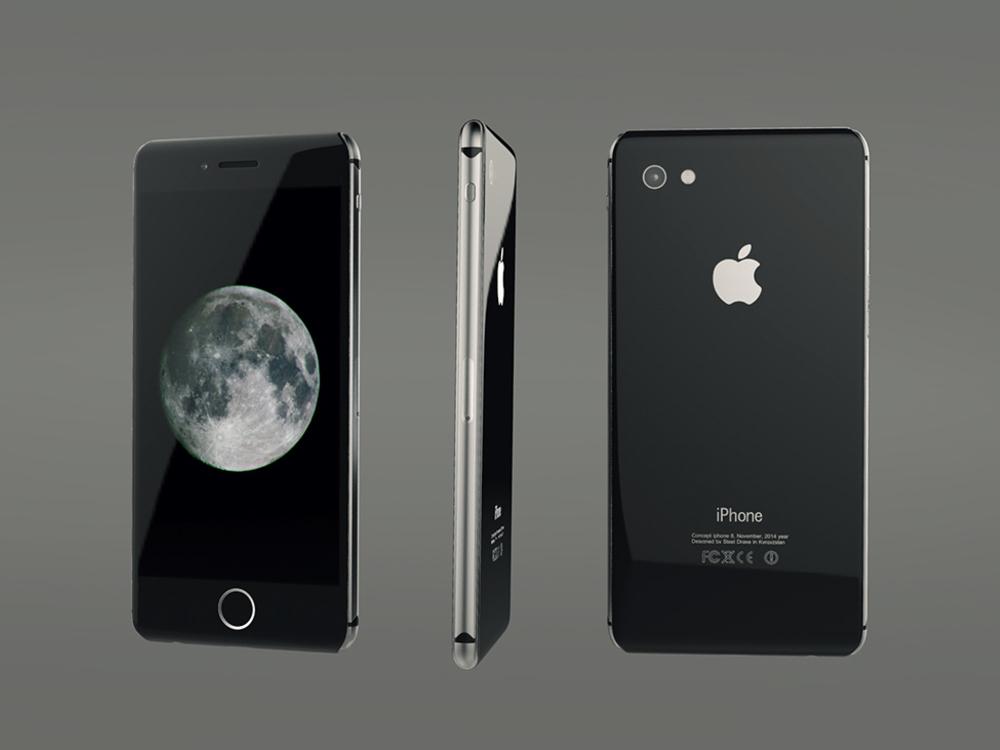 apple handy der zukunft designer zeigt studie zum iphone 8. Black Bedroom Furniture Sets. Home Design Ideas