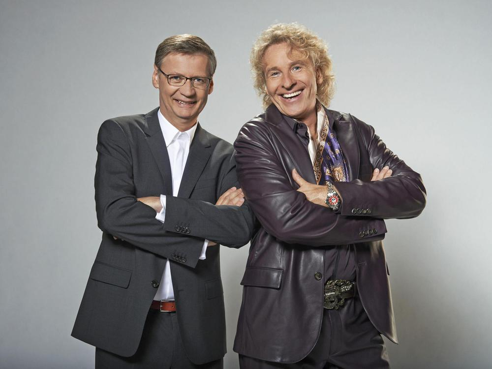 Photo of Günther Jauch & his friend  Thomas Gottschalk
