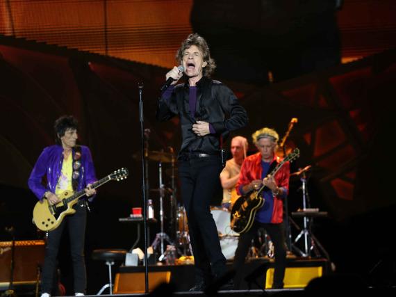 Die Rolling Stones bei einem Konzert im Juni 2015 in Altanta