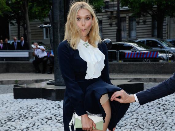 Elizabeth Olsen sorgte bei der Fashion Week in Paris für einen
