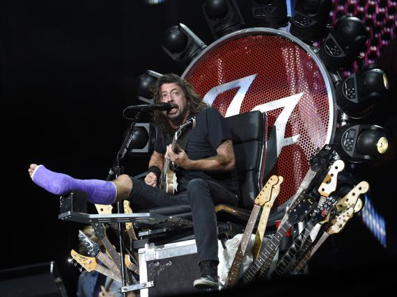 Dave Grohl auf seinem Rock-Thron in Washington, D.C.