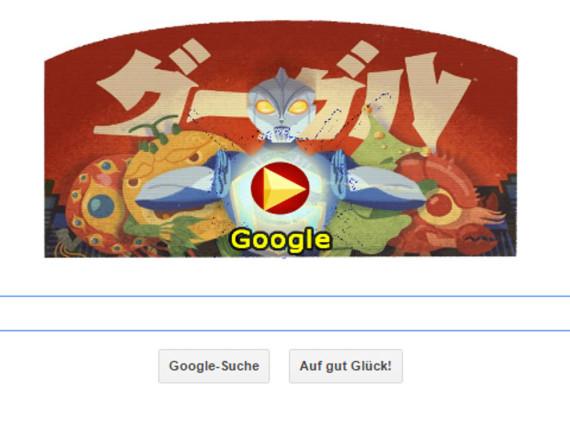 Das Google Doodle für Eiji Tsuburaya