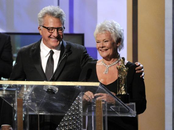 Dustin Hoffman (l.), hier mit Schauspiel-Kollegin Judi Dench, ist mit dem Kino von heute alles andere als zufrieden