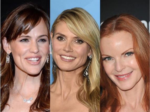 So gelingen tolle Farbreflexe für jeden Ton, wie bei Jennifer Garner, Heidi Klum oder Marica Cross (v.l.)