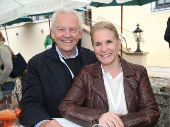 Strahlendes Paar: Rüdiger Grube und Cornelia Poletto bei einer Veranstaltung im Mai