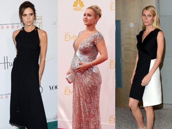 Sie litten unter Wochenbettdepression: Victoria Beckham, Hayden Panettiere und Gwyneth Paltrow (v.l.n.r.)
