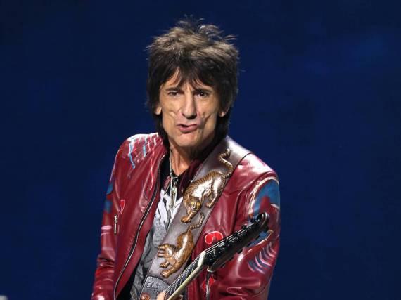 Ron Wood bei einem Rolling-Stones-Konzert im Jahr 2013