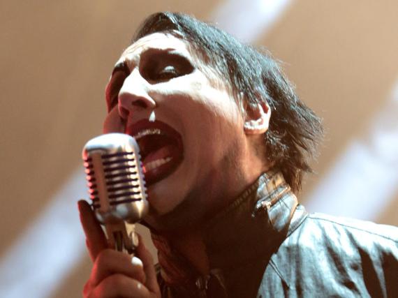 Marilyn Manson während eines Auftritts in Camden, New Jersey