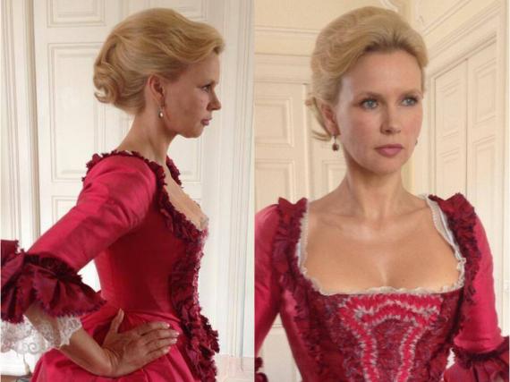 In diesem Kleid wäre Veronica Ferres an Valentinstag ein Traum in Rot