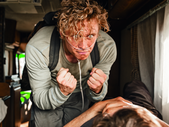Vor der Kamera kein Problem: Der emotional aufgeladene Matthias Schweighöfer in dem neuen Film