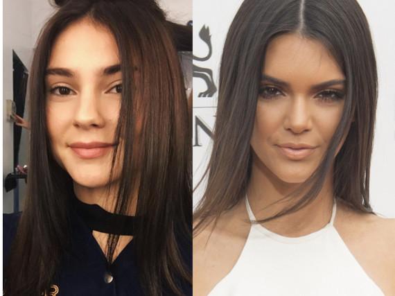 Zum Verwechseln ähnlich: Stefanie Giesinger (l.) und Kendall Jenner